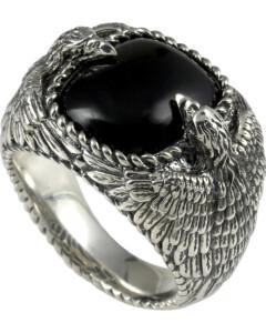 Ring aus Sterling Silber mit Obsidian