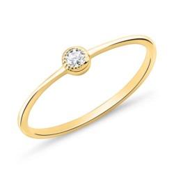 Ring aus vergoldetem 925er Silber mit Zirkonia