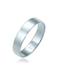 Ring Bandring Trauring Basic 585 Weißgold Elli Premium Weiß