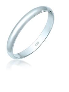 Ring Basic Bandring Hochzeit Trauring 585 Weißgold Elli Premium Weiß