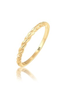 Ring Basic Geo Twisted Gedreht Bandring 585 Gelbgold Elli Premium Gold