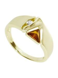 Ring – Benita – Gold 585/000 – Bernstein/Brillant OSTSEE-SCHMUCK gold