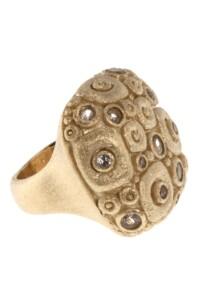 Ring Bergkristall Sterling Silber vergoldet