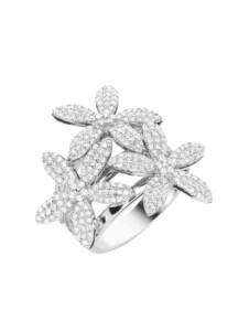 Ring Blüten mit weißen Zirkonia, Silber 925 Giorgio Martello Weiss