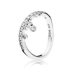 Ring Chandelier Droplets 925er Silber