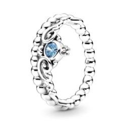 Ring Disney Cinderella Blaue Tiara aus 925er Silber