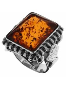 Ring – Fischland 18×15 mm – Silber 925/000 – Bernstein OSTSEE-SCHMUCK silber