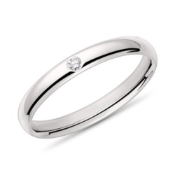 Ring für Damen aus 14K Weißgold mit Diamant