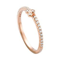 Ring für Damen aus 925er Silber, rosé mit Zirkonia