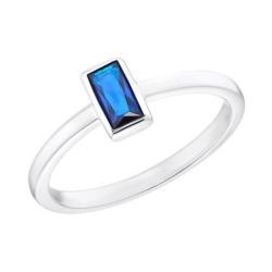 Ring für Damen aus Sterlingsilber mit Zirkonia, blau