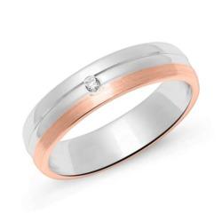Ring für Damen aus Sterlingsilber, rosé mit Zirkonia
