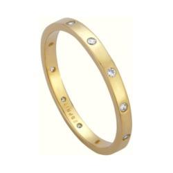 Ring für Damen aus vergoldetem 925er Silber, Zirkonia