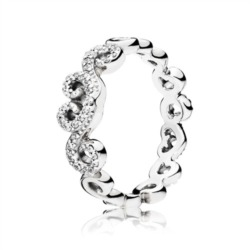 Ring Heart Swirls 925er Silber Zirkonia