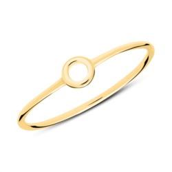 Ring im Kreisdesign aus vergoldetem Sterlingsilber