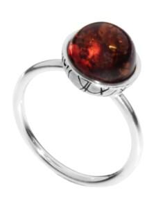 Ring – Kugel 10 mm-Sarah Vicenca – Silber 925/000 – Bernstein OSTSEE-SCHMUCK silber