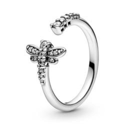 Ring Libelle für Damen aus 925er Silber mit Zirkonia