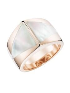 Ring mit Stein-Einlage in dreieckiger Form Giorgio Martello Perlmutt