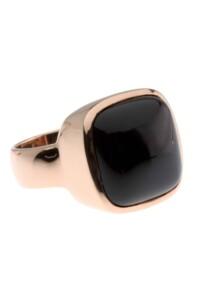 Ring Onyx Sterling Silber rosé vergoldet