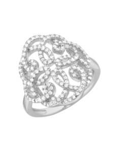 Ring Ornament Giorgio Martello Weiss