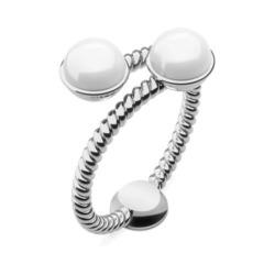 Ring Rope Pearl für Damen aus Edelstahl mit Perlen