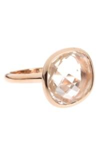 Ring rosé vergoldet Bergkristall