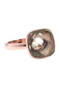 Ring rosé vergoldet grüner Amethyst