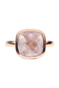 Ring rosé vergoldet ROSENQUARZ
