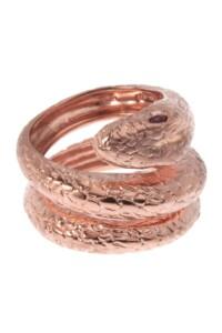 Ring rosé vergoldet Rubin