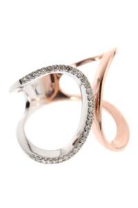 Ring Roségold Weißgold Diamant