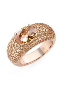 Ring Rosé vergoldet mit Zirkonia Giorgio Martello Rosé vergoldet