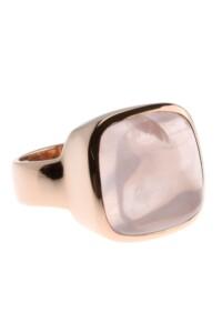 Ring Rosenquarz Sterling Silber rosé vergoldet