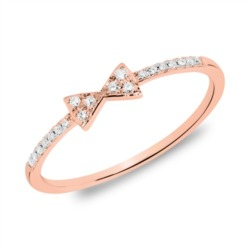 Ring Schleife aus 14K Roségold mit Diamanten