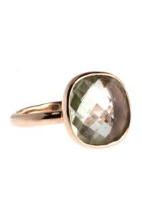 Ring Sterling Silber rosé vergoldet Amethyst