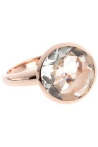 Ring Sterling Silber rosé vergoldet Bergkristall