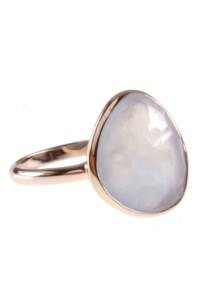 Ring Sterling Silber rosé vergoldet Chalzedon