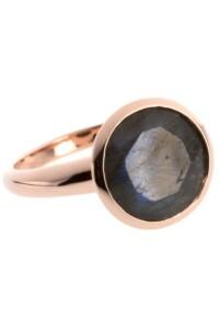 Ring Sterling Silber rosé vergoldet Labradorit