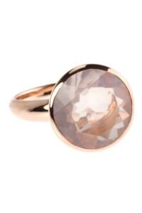 Ring Sterling Silber rosé vergoldet Rosenquarz