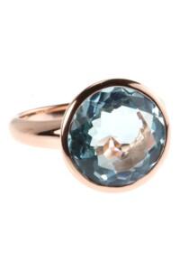 Ring Sterling Silber rosé vergoldet Topas