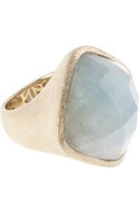 Ring Sterling Silber vergoldet Aquamarin