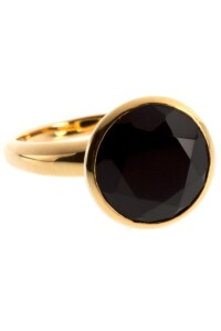 Ring Sterling Silber vergoldet Onyx