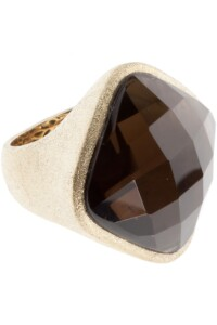 Ring Sterling Silber vergoldet Rauchquarz
