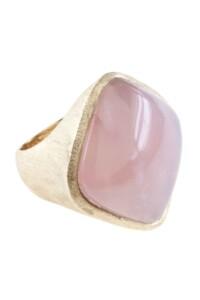 Ring Sterling Silber vergoldet Rosenquarz