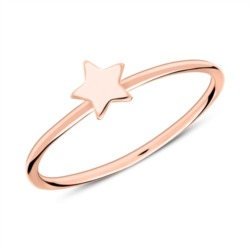 Ring Stern aus rosévergoldetem 925er Silber