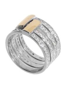 Ring – Sunny Exklusiv – Silber 925/000 & Gold 585/000 – Zirkonia OSTSEE-SCHMUCK silber