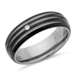 Ring Titan Ionic Black Plating Diamant 0,02 ct