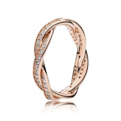 Ring Twist ROSE Zirkonia