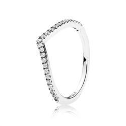 Ring V-Form 925er Silber Zirkonia