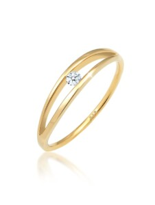 Ring Verlobung Wellen Diamant (0.06 Ct.) 585 Gelbgold DIAMORE Gold
