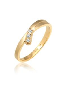 Ring Verlobungsring Diamant (0.04 Ct.) 585 Gelbgold DIAMORE Gold