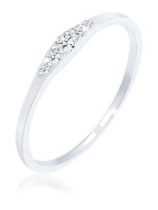 Ring Verlobungsring Diamant (0.07 Ct) Bridal 925 Silber DIAMORE Silber